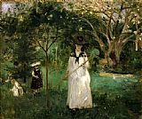 Berthe Morisot Butterfly Hunt painting